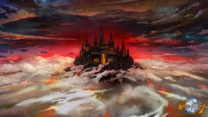 Wallpaper zu Days of Dawn: Floating Castle (1920 x 1080 Pixel)