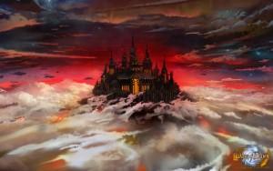 Wallpaper zu Days of Dawn: Floating Castle (1920 x 1200 Pixel)