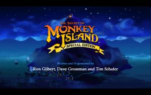 The Secret of Monkey Island SE - Titelbildschirm