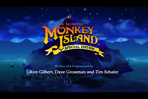 The Secret of Monkey Island SE - Titelbildschirm