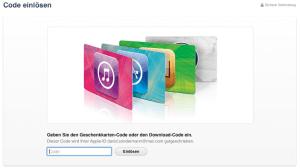 Codes im iTunes Store einlösen