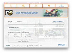 Optionsfenster (DiRT 3)