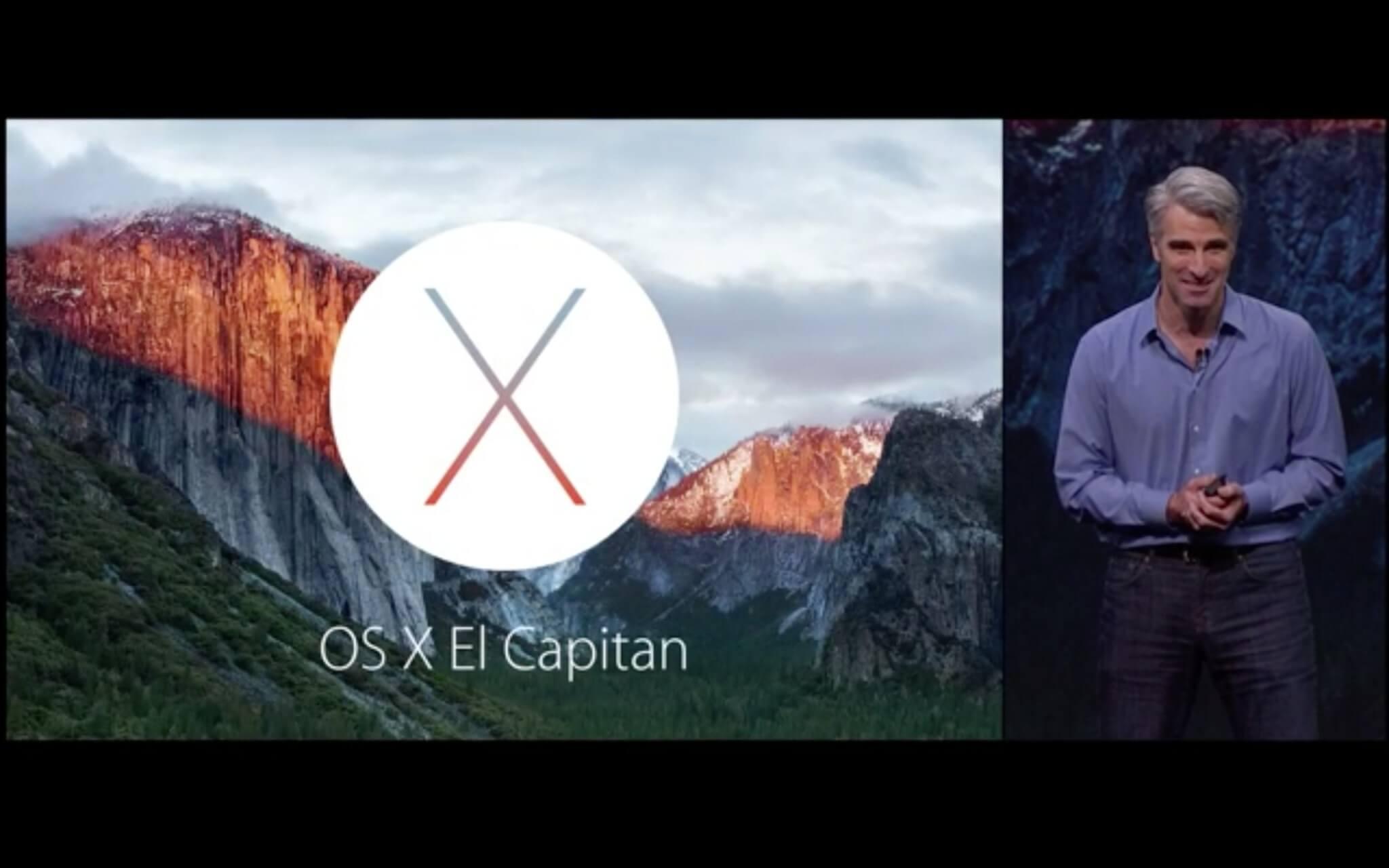 Craig Federighi stellt El Capitan vor (Bildrechte: Apple)