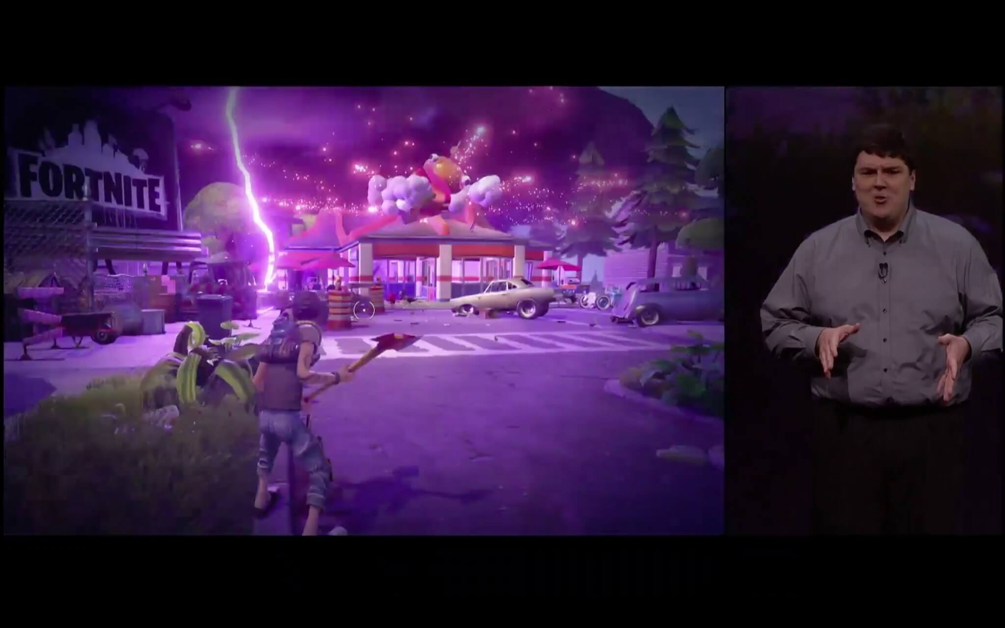 Epic Games präsentiert die Metal-optimierte Grafik in Fortnite (Bildrechte: Apple)
