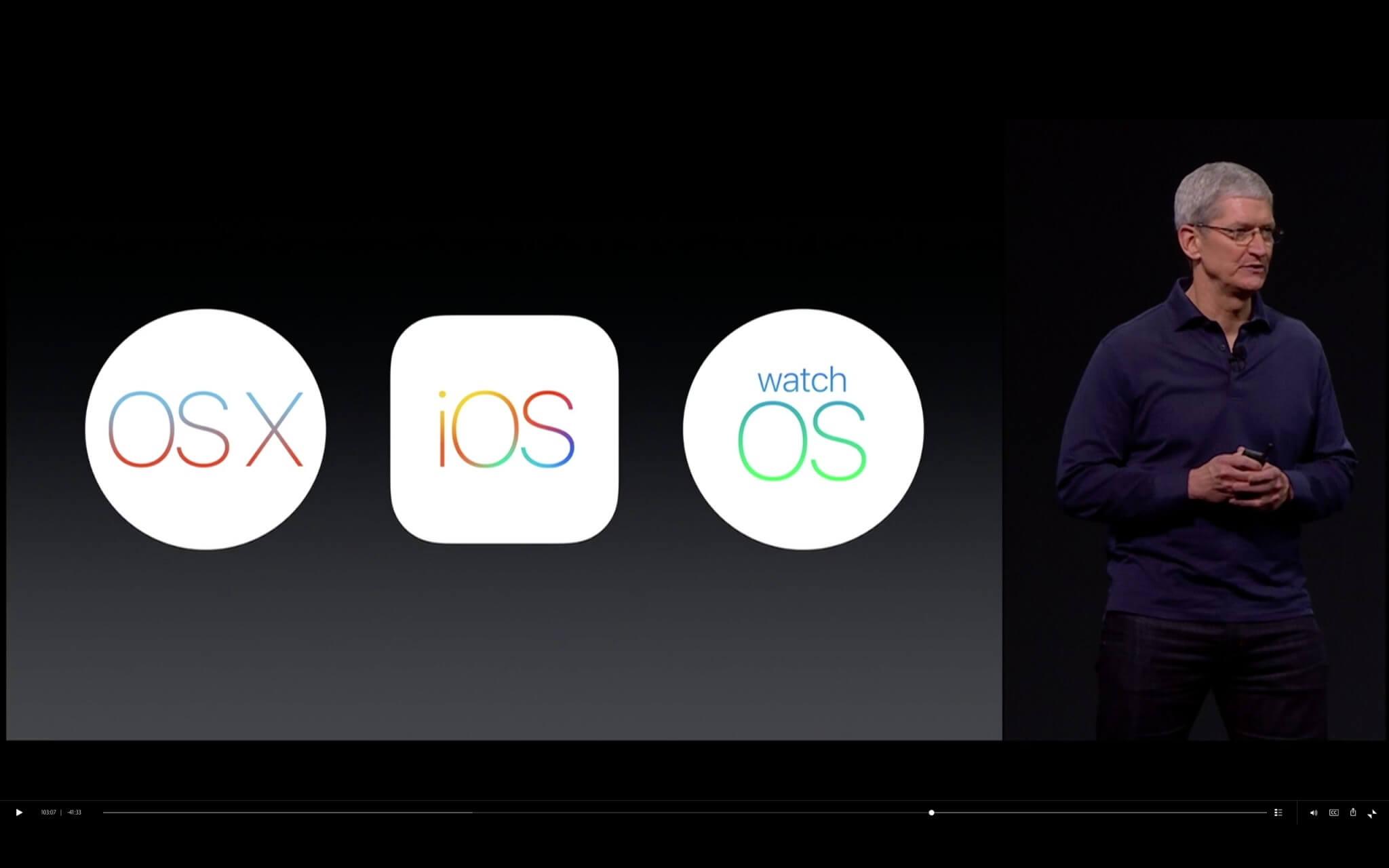 Das Betriebssystem-Trio von Apple (Bildrechte: Apple)