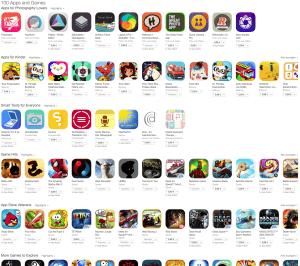 100 Apps und Games für je 99 Cent im App Store