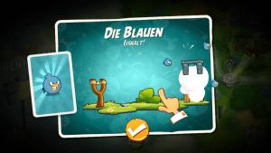 Die Vögel erhält man in Form von Sammelkarten (Angry Birds 2).