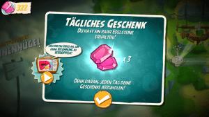 Im Spiel wird mit Edelsteinen gehandelt (Angry Birds 2).
