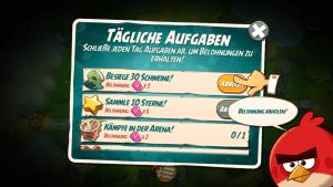 In Angry Birds 2 gibt es tägliche Quests zu absolvieren.