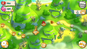In jedem fünften Level gibt es einen Zwischenboss, den es zu besiegen gilt (Angry Birds 2).