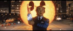 Spieldesigner Tōru Iwatani läuft vor seiner eigenen Schöpfung davon (Bildrechte (Sony Pictures)
