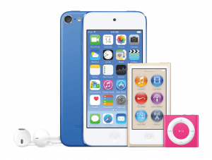 Die iPod-Familie – Juli 2015 (Bildrechte: Apple)