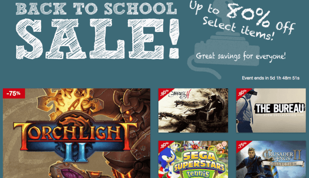 Back-To-School-Sale bei MacGameStore (Screenshot: MacGameStore)