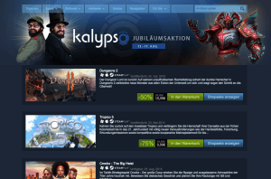 Kalypso-Jubiläumsaktion (Screenshot: Steam)
