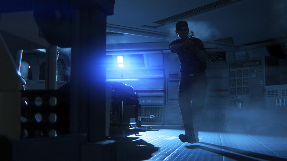 Nicht nur das Alien stellt eine Bedrohung dar (Bildrechte: Feral Interactive).
