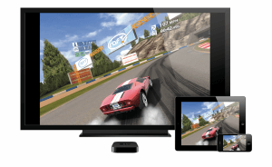 Real Racing auf Apple TV 3, iPad 2 und iPhone 4S (Bildrechte: Apple)