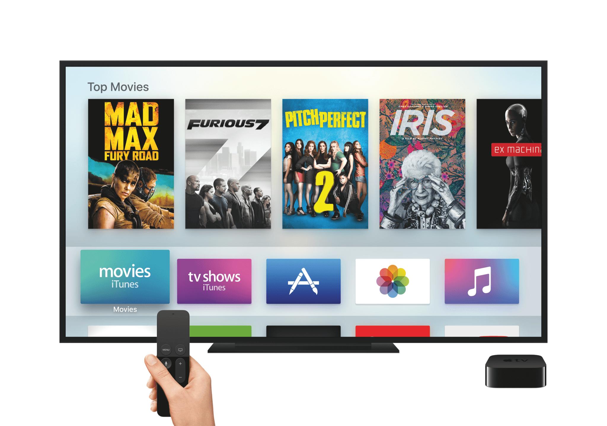 Das Apple TV 4 mit neuen Menüs und Siri Remote (Bildrechte: Apple)