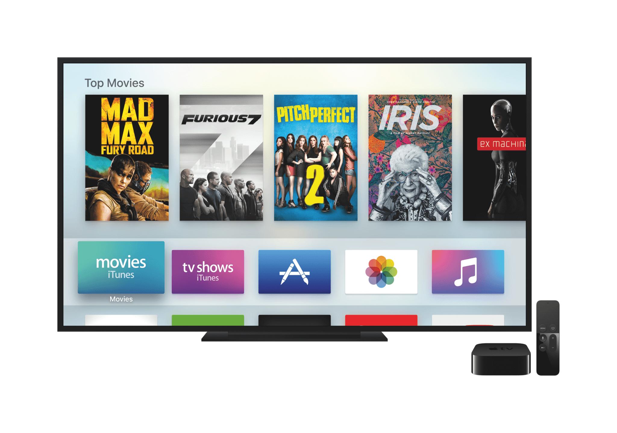 Hauptmenü des Apple TV 4 (Bildrechte: Apple)