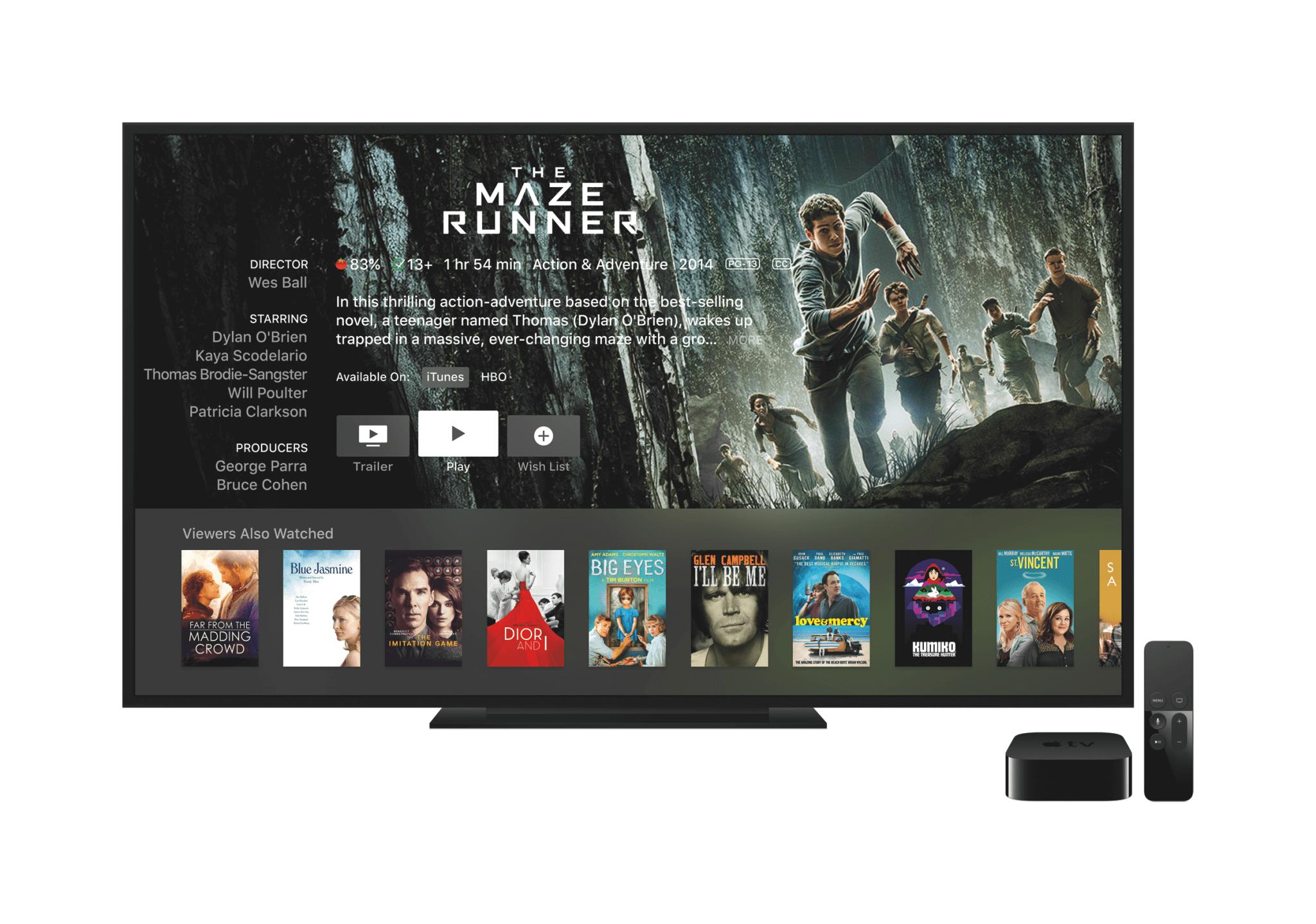 Detailinformationen zu Filmen mit Links zu allen Anbietern auf dem Apple TV (Bildrechte: Apple)