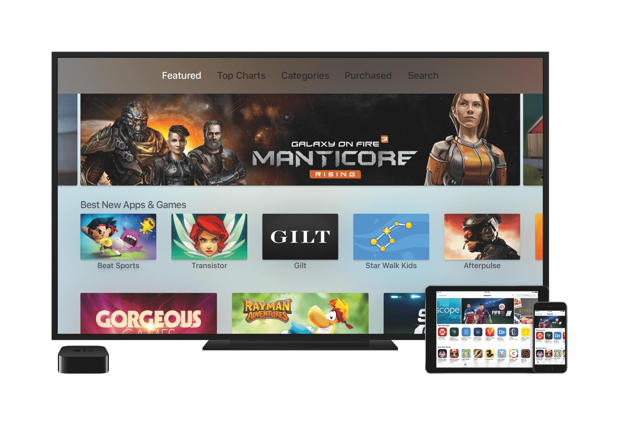 Das Apple TV mit eigenem App Store (Bildrechte: Apple)