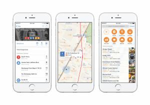 Die Karten-App in iOS 9 zeigt ÖPNV-Verbindungen an (Bildrechte: Apple)
