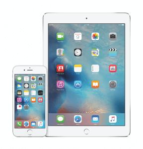 Homescreen von iOS 9 auf iPhone und iPad (Bildrechte: Apple)