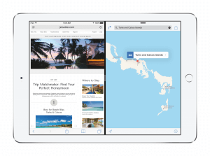 Splitview in iOS 9 auf dem iPad Air 2 (Bildrechte: Apple)