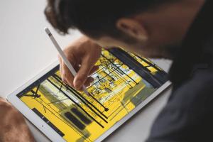 Der Apple Pencil macht das iPad Pro zum Zeichentablett (Bildrechte: Apple)
