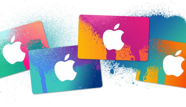 Guthabenkarten für iTunes Store, App Store, Mac App Store und iBooks Store (Bildrechte: Apple)