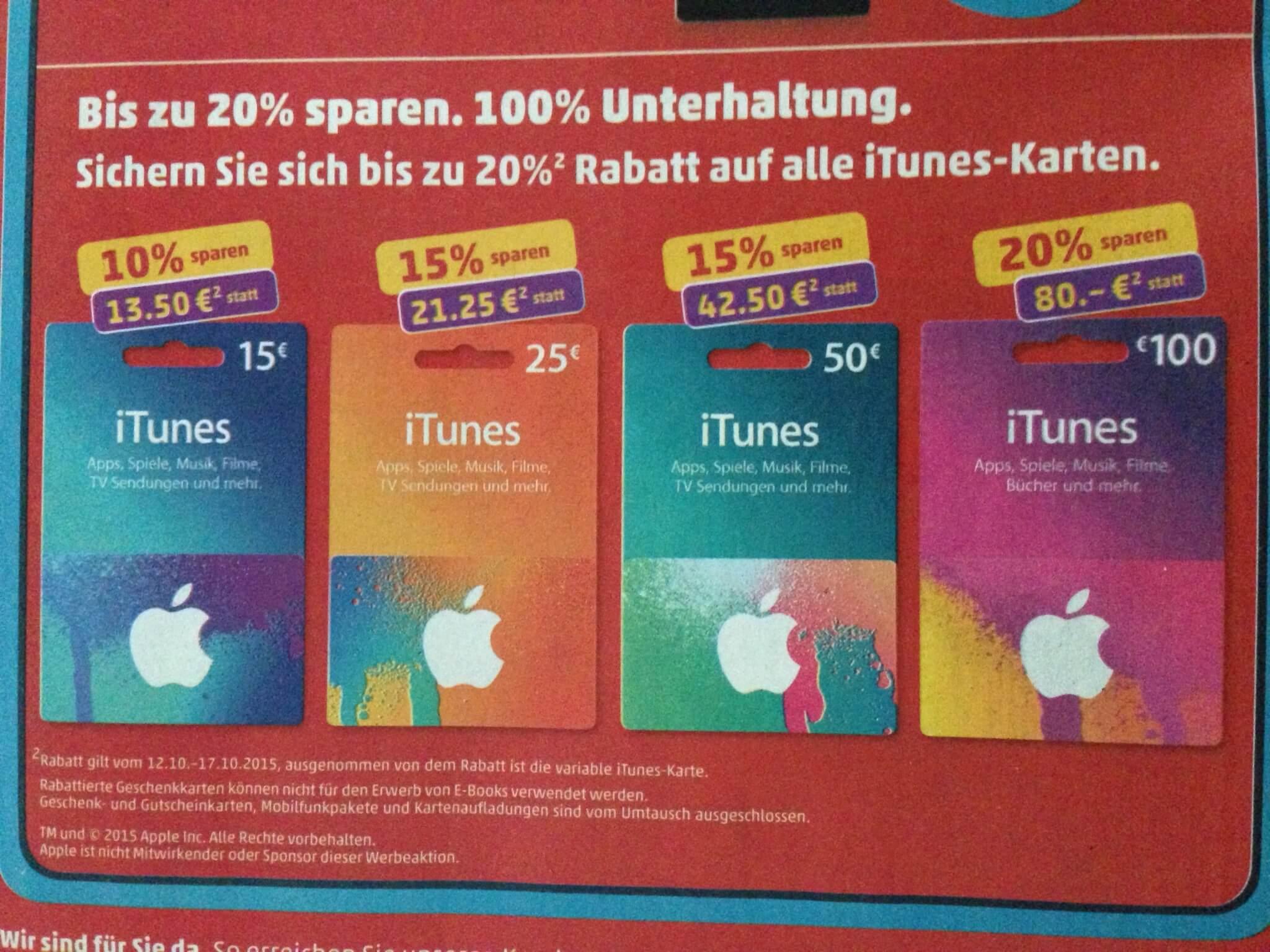 Bei Penny gibt es wieder iTunes-Guthabenkarten im Angebot (aus Penny-Prospekt)