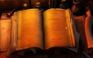 Das Spielmenü in the Book of Unwritten Tales