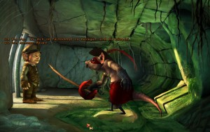 Die Ratte hat wohl zu viel Monkey Island gespielt (The Book of Unwritten Tales)