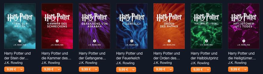 Harry Potter im iBooks Store (Screenshot)