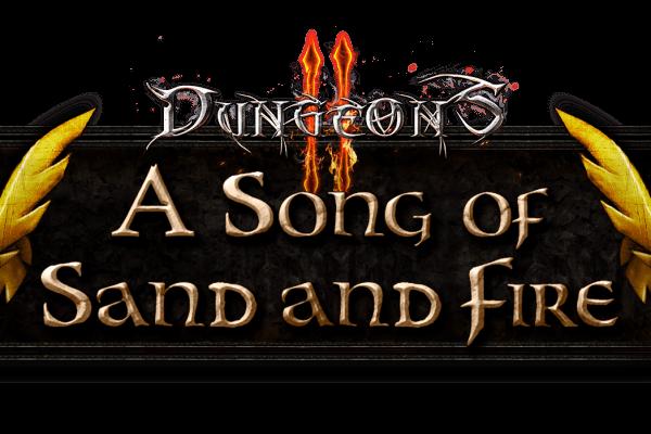 Logo zum Dungeons-2-DLC A Song of Sand of Fire (Bildrechte: Kalypso Media)