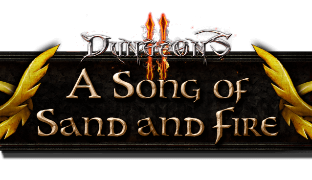 Logo zum Dungeons-2-DLC A Song of Sand of Fire (Bildrechte: Kalypso Media)