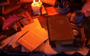 Das Hauptmenü von The Book of Unwritten Tales 2