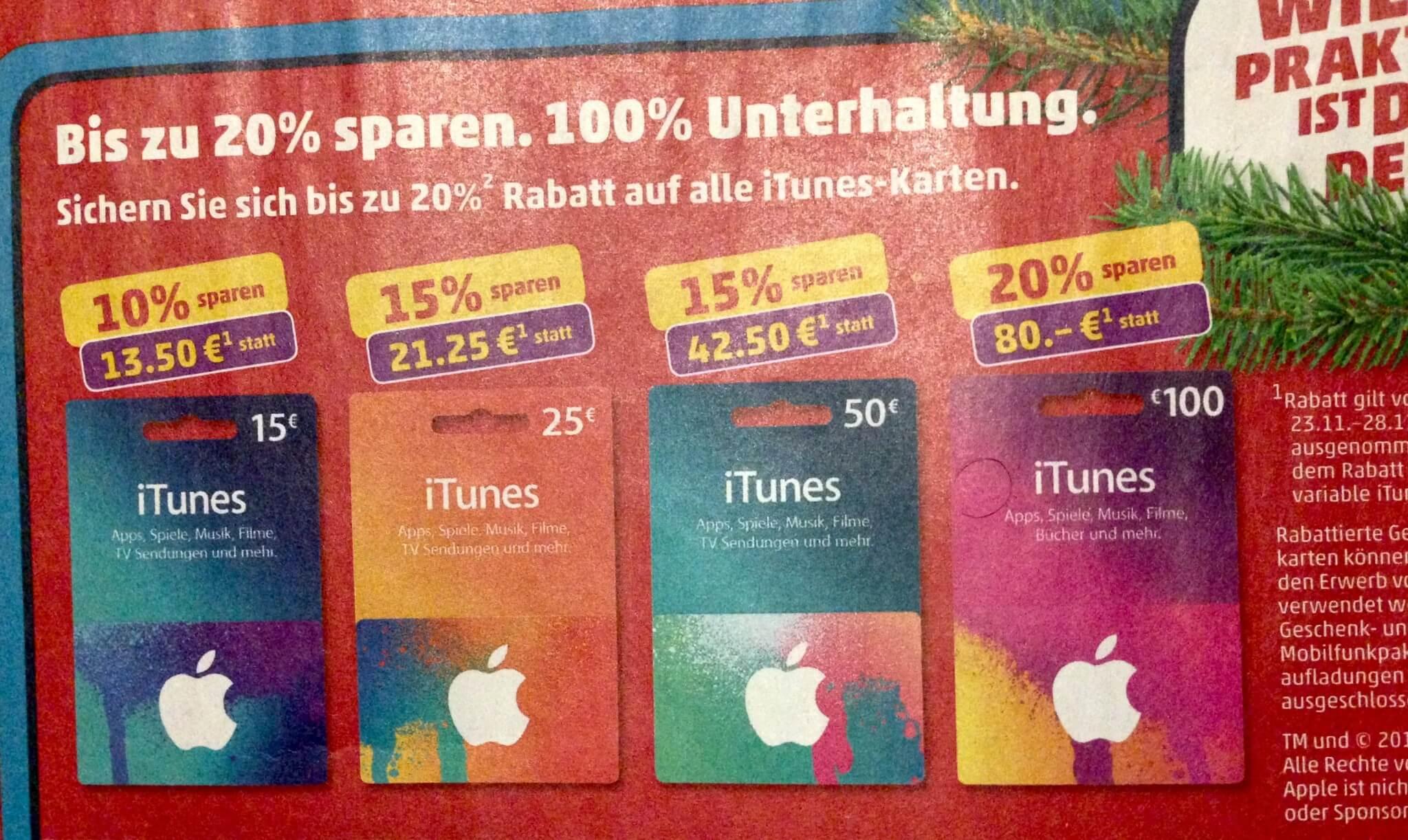iTunes-Guthabenkarten im Angebot bei Penny (aus Penny-Prospekt)