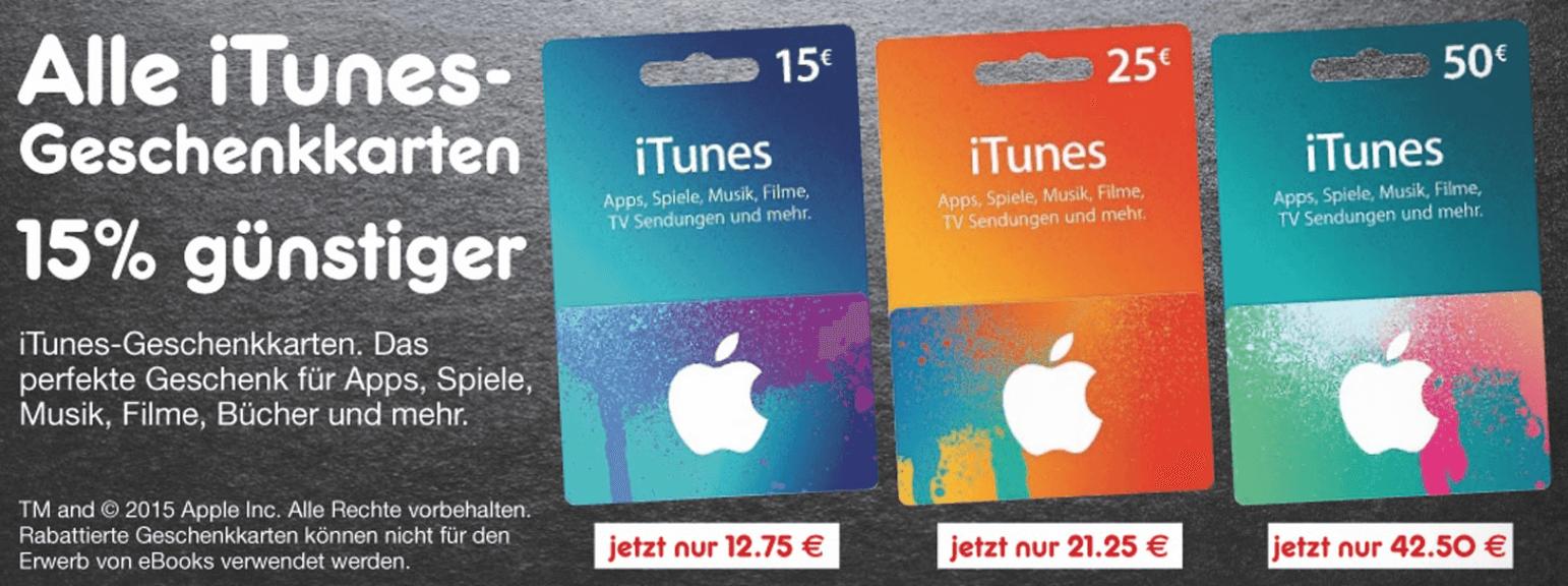 Rabatt auf iTunes-Guthabenkarten bei Netto (Screenshot: Netto-Prospekt)