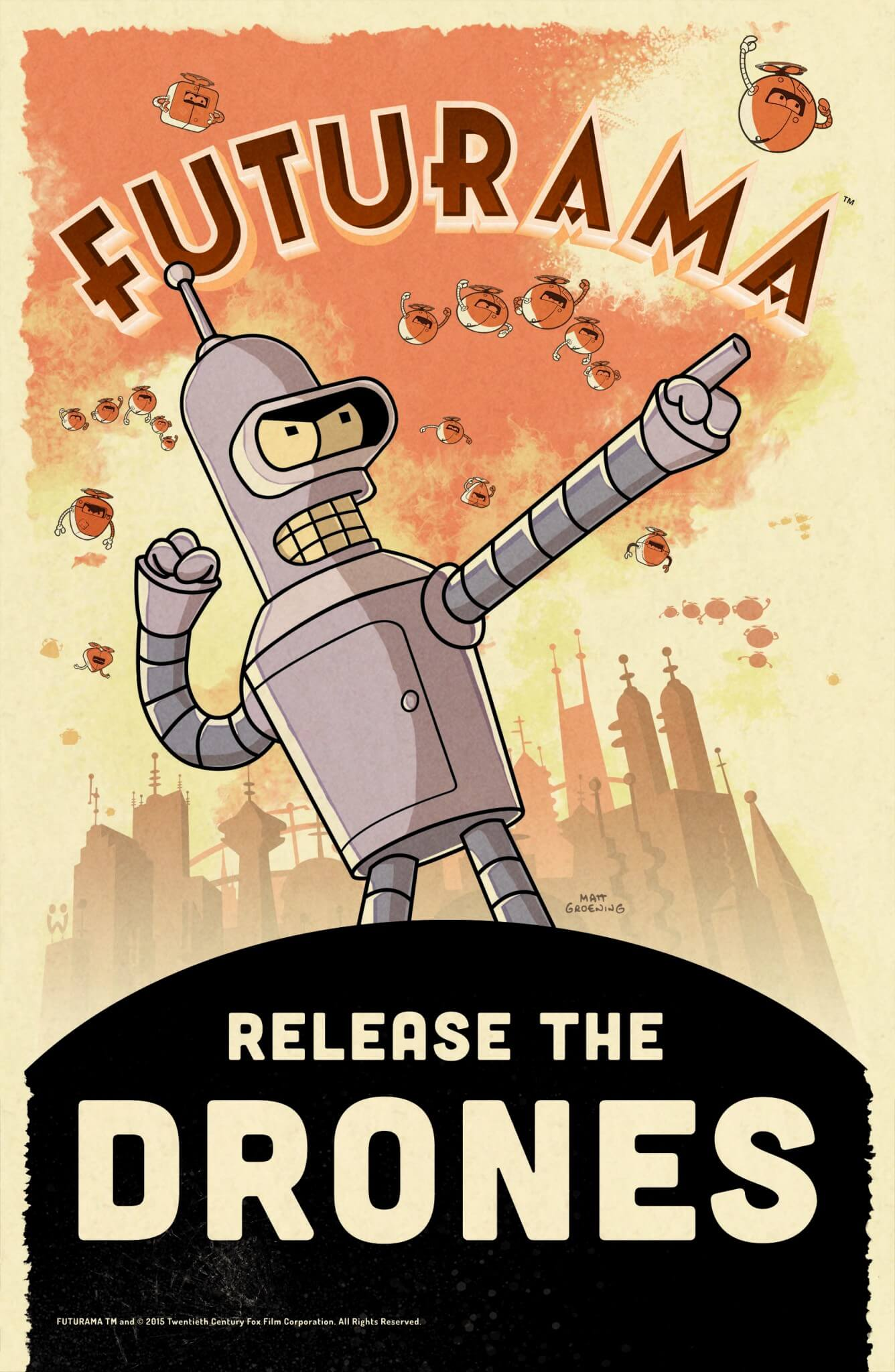 Futurama: Release The Drones (Bildrechte: Wooga)