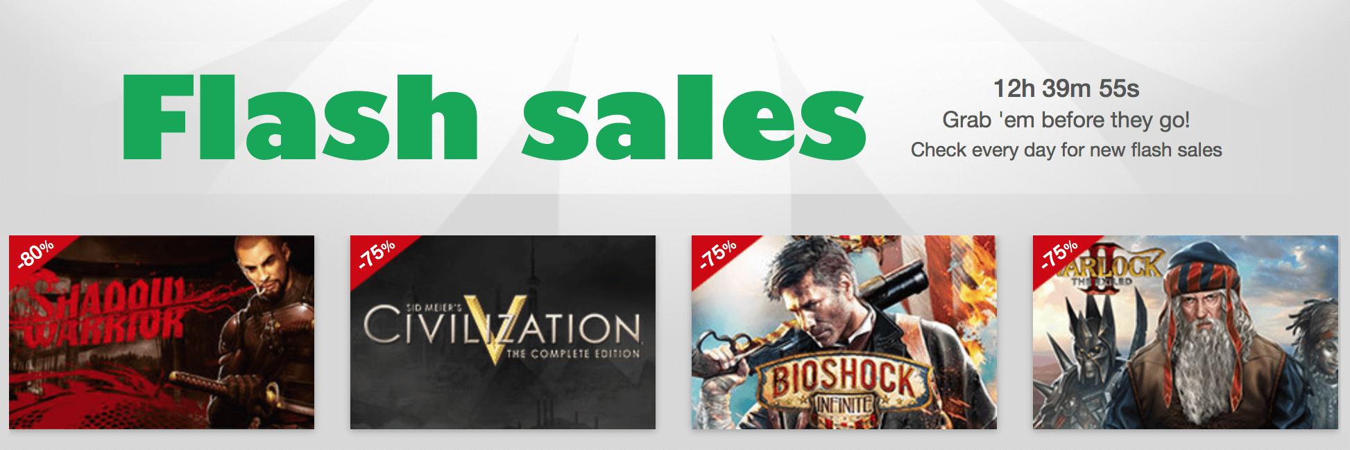 Black Friday Sale im MacGameStore – Blitzangebote (Screenshot: MacGameStore)