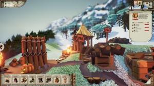Valhalla Hills: Damit die Wikinger gut versorgt sind, müssen verschiedene Gewerbe errichtet werden (Bildrechte: Daedalic Entertainment)