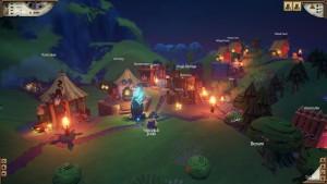 Valhalla Hills: Wikinger-Dorf bei Nacht (Bildrechte: Daedalic Entertainment)