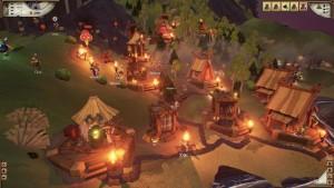 Valhalla Hill: Olaf, Bjarne und Grimhild helfen im Dorf mit (Bildrechte: Daedalic EntertainmenT)