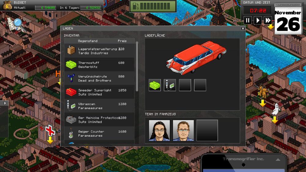 GhostControl Inc.: Unterwegs mit standesgemäßen Vehikel (Bildrechte: Application Systems Heidelberg)
