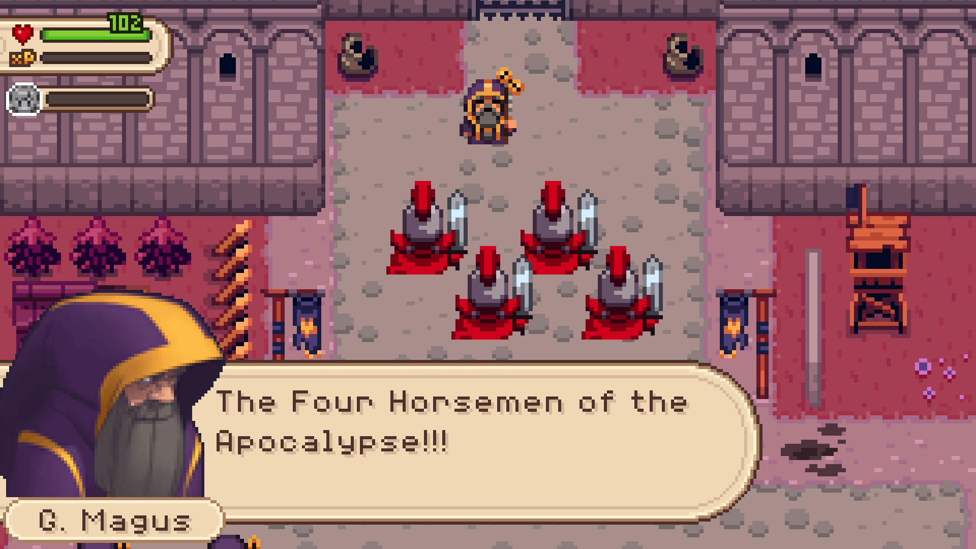 Evoland 2: Die vier Reiter der Apokalypse? (Bildrechte: Shiro Games)