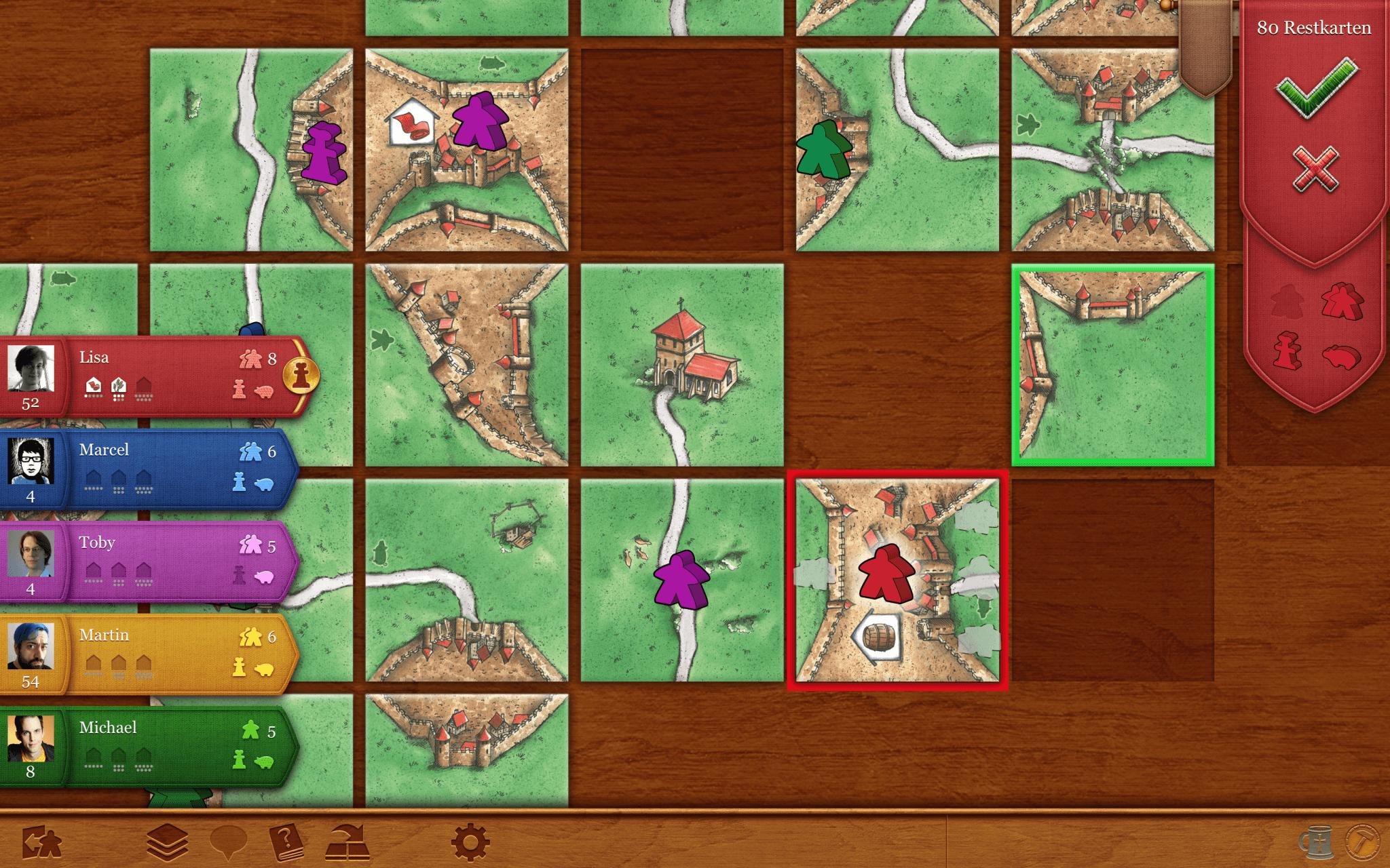 Mac-Version von Carcassonne (Bildrechte: Coding Monkeys)