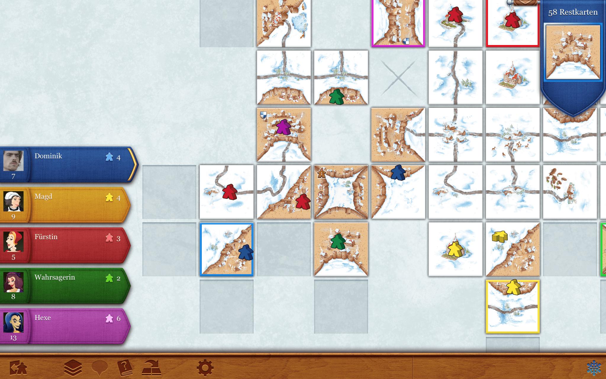Carcassonne (Mac): Der Winter kommt (Bildrechte: Coding Monkeys)