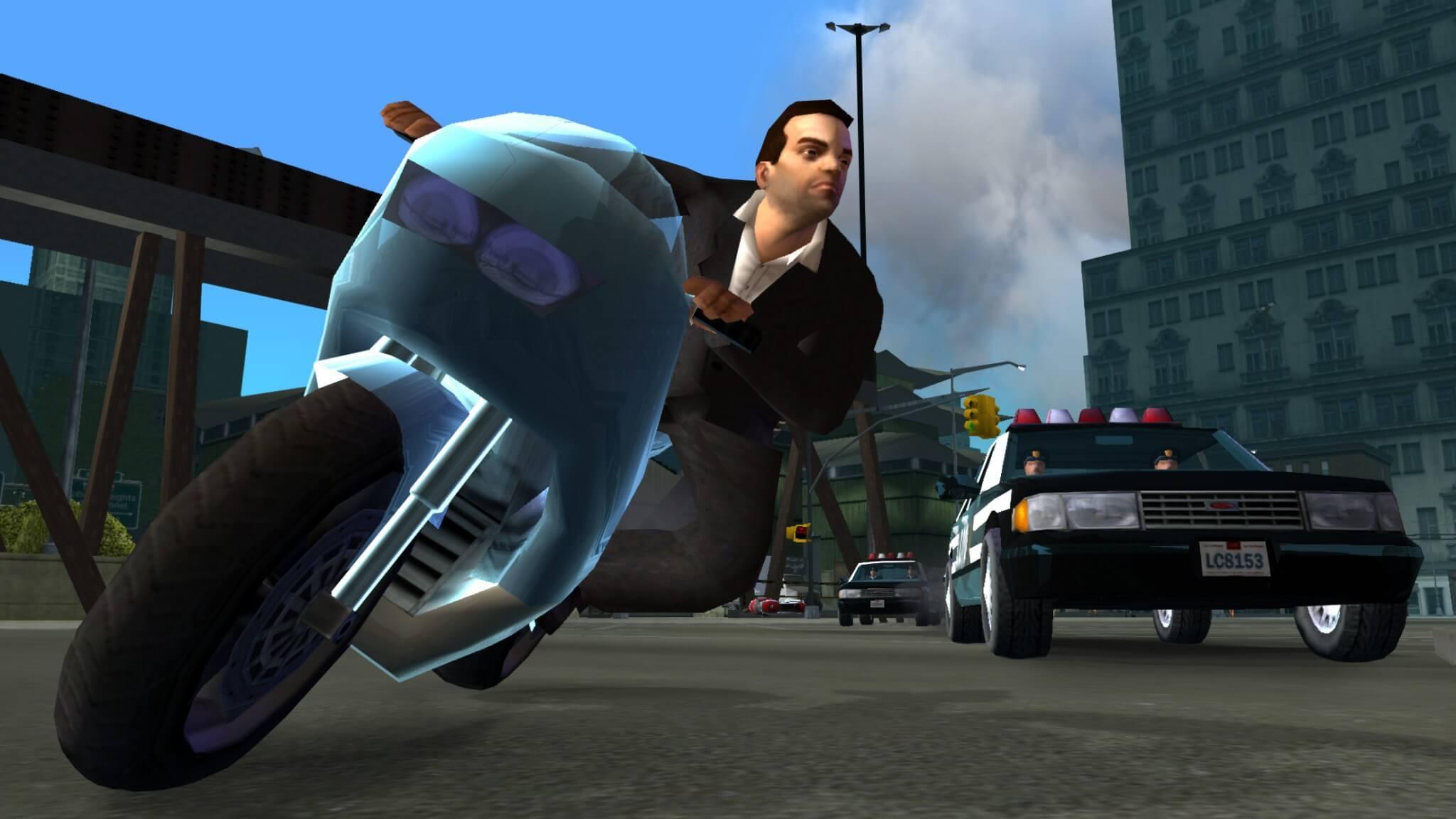 GTA Liberty City Stories: Auf der Flucht mit dem Motorrad (Bildrechte: Rockstar Games)