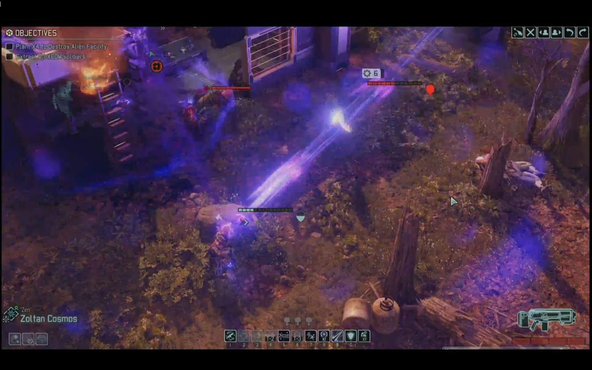 """XCOM 2: Die """"Null Lance"""" schießt einen geraden PSI-Strahl durch die Aliens (Bildrechte: Fireaxis)"""