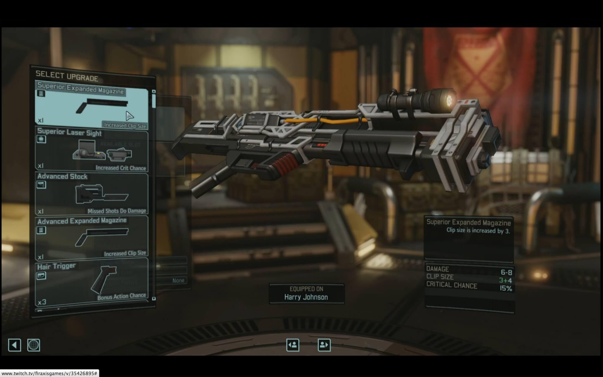 XCOM 2: Der Spieler kann mit einer ganzen Reihe von Upgrades die Waffen individualisieren (Bildrechte: Firaxis)